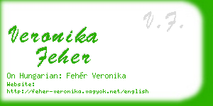 veronika feher business card